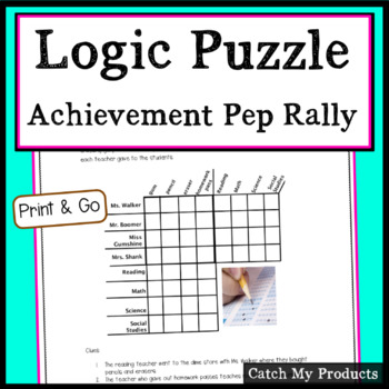 The Achievement Test Pep Rally Logic Problem for Gifted an