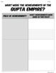 Ancient India & the Gupta Empire: Students analyze 5 major