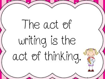 The Act of Writing is the Act of Thinking Poster