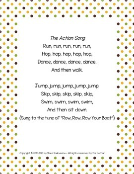 The Action Song {FREEBIE}
