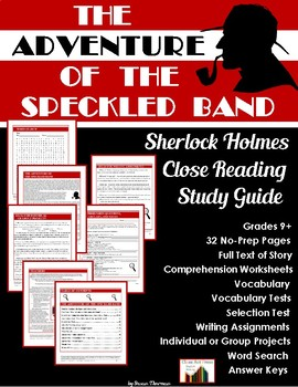 The Adventure of the Speckled Band: Sherlock Holmes Study