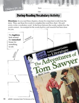 The Adventures Of Tom Sawyer Vocabulary Activities