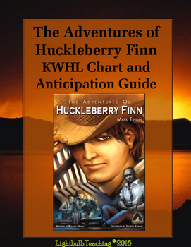 The Adventures of Huckleberry Finn Anticipation Guide and