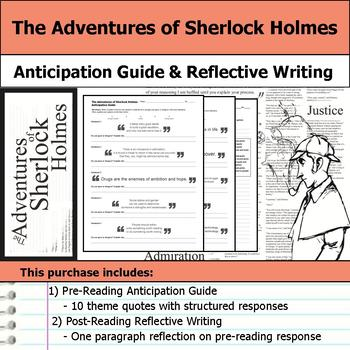 The Adventures of Sherlock Holmes - Anticipation Guide & R