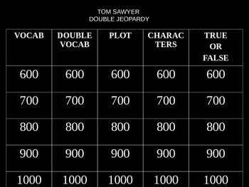 The Adventures of Tom Sawyer Jeopardy 2