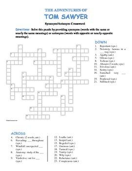 The Adventures of Tom Sawyer--Synonym/Antonym Vocabulary C