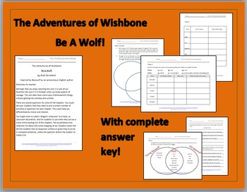 Wishbone's Be A Wolf! Comprehension Packet (the classic ep