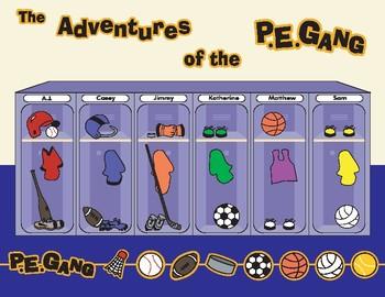 The Adventures of the P.E. Gang Book (Grades K-1)