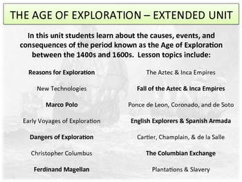 The Age of Exploration - Extended Unit