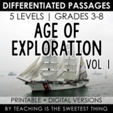 Age of Exploration: Differentiated Reading Passages