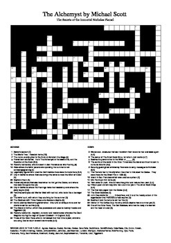 The Alchemyst by Michael Scott - Characters and Locations Puzzle