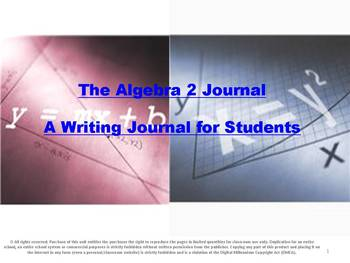 The Algebra 2 Journal: Sample page