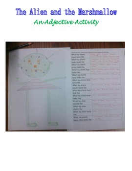 The Alien & the Marshmallow Adjective Activity