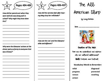 The All-American Slurp Trifold - Reading Street 6th Grade