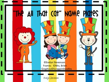 The All That Cat   Name Plates