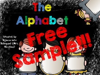 The Alphabet FREE SAMPLE (letters A and B)