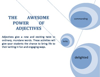 The Amazing Power of Adjectives