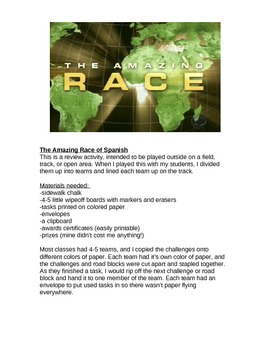 The Amazing Race review game