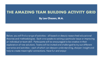 The Amazing Team Building Activity Grid!