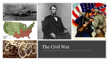 The Civil War PowerPoint and Guided Notes Sheet
