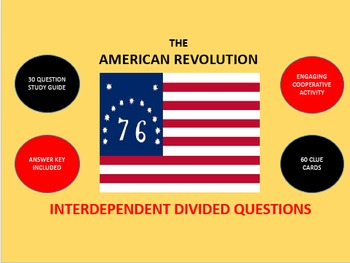 The American Revolution: Interdependent Divided Questions