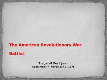 American Revolutionary War - Siege of Fort St Jean - 1775