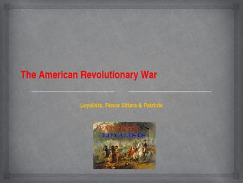 American Revolutionary War - Key Figures - Loyalists, Fenc