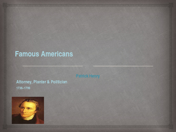 American Revolutionary War - Key Figures - Patrick Henry