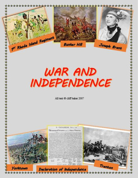 The American Revolutionary War and Independence - suppleme