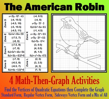 The American Robin - Finding Vertices - 4 Math-Then-Graph