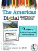 The Americas Digital Interactive Notebook for Google Drive