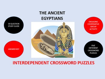 The Ancient Egyptians: Interdependent Crossword Puzzles Activity