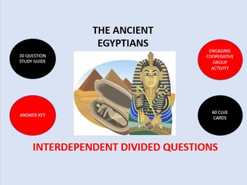 The Ancient Egyptians: Interdependent Divided Questions Activity