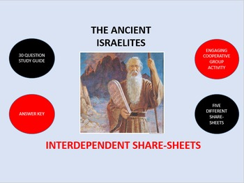 The Ancient Israelites:  Interdependent Share-Sheets Activity