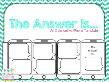 The Answer Is...iPhone Template EDITABLE!