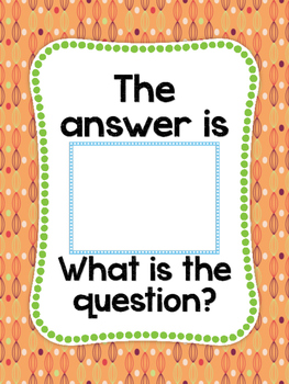 The Answer is ___  What is the Question? Poster