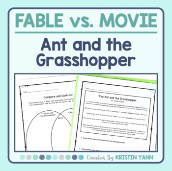 The Ant and the Grasshopper (Aesop) vs. A Bug's Life - Fab