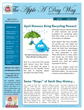 The Apple A Day Way for April:  April Showers Bring Recycl