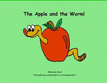 """The Apple and The Worm""  A Fall Sight Word Game"