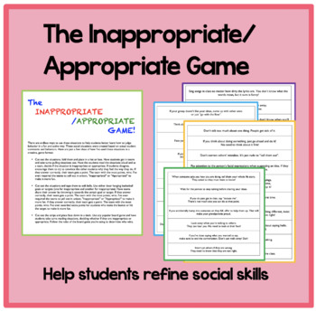The Inappropriate / Appropriate Game: Help students refine