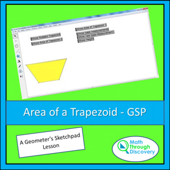Geometry:  Area of a Trapezoid - GSP