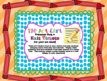 The Art Cart Print Pack 2 - Exit Tickets