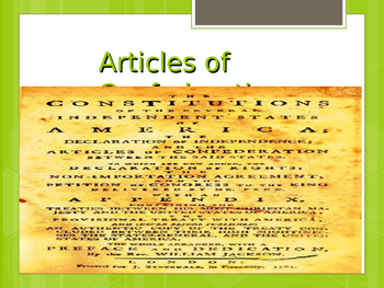 The Articles of Confederation to the Constitutional Convention