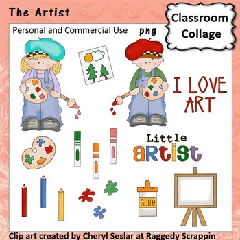 The Artist - Color - personal & commercial use easel marke