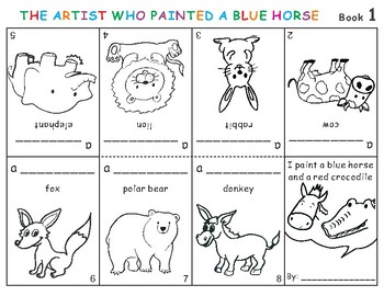 The Artist Who Painted a Blue Horse Eric Carle Cut-Out Fol