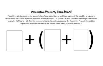 The Associative Property Activity