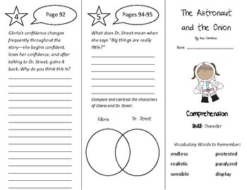 The Astronaut and the Onion Trifold - Treasures 4th Grade