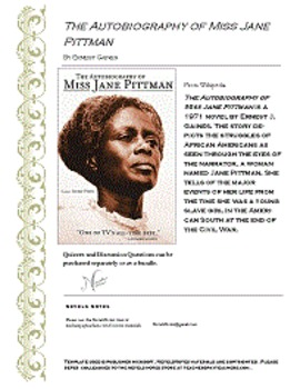 The Autobiography of Miss Jane Pittman  Book One Discussio