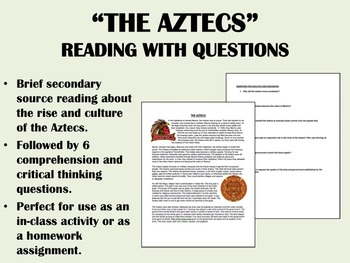 The Aztecs - reading with questions - Global/World History