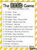 The BEST Game-- A team building activity!